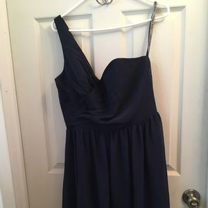 Alfred Angelo navy blue prom dress